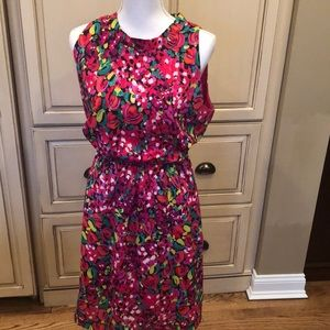 EUC Lilly Pulitzer floral dress, size Large